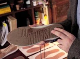 Schuh mit dem Aufdruck: Ich bin Atheist