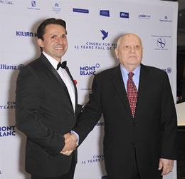 Holger Schubart mit Michail Gorbatschow