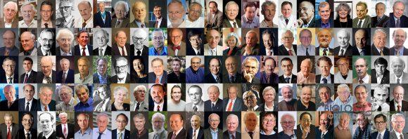 Collage der 110 Nobelpreisträger