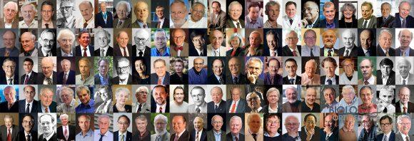 Collage der 110 Nobelpreisträger