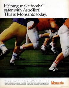 Kunstrasen Werbung von 1967