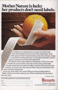 Monsanto Chemie Werbung von 1980