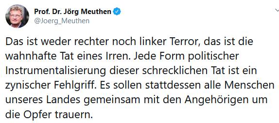 Hanau, 19. Februar 2020, der Herr Professor Doktor Ohnemichel, und was man dazu wohl auch noch sagen darf